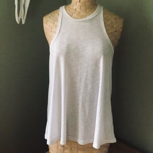 Free People White Muscle Tank Top Size S